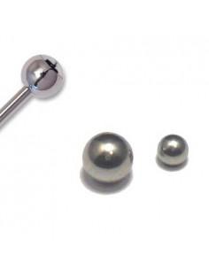 Boules metal acier chirugical pour tige de piercing en 1.2 mm