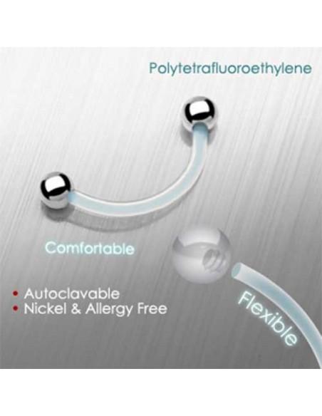 Piercing arcade bioplast flexible avec boule acier