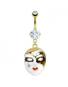Piercing nombril masque carnaval