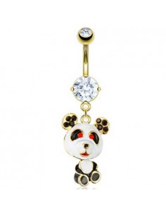 Piercing Nombril Panda Doré