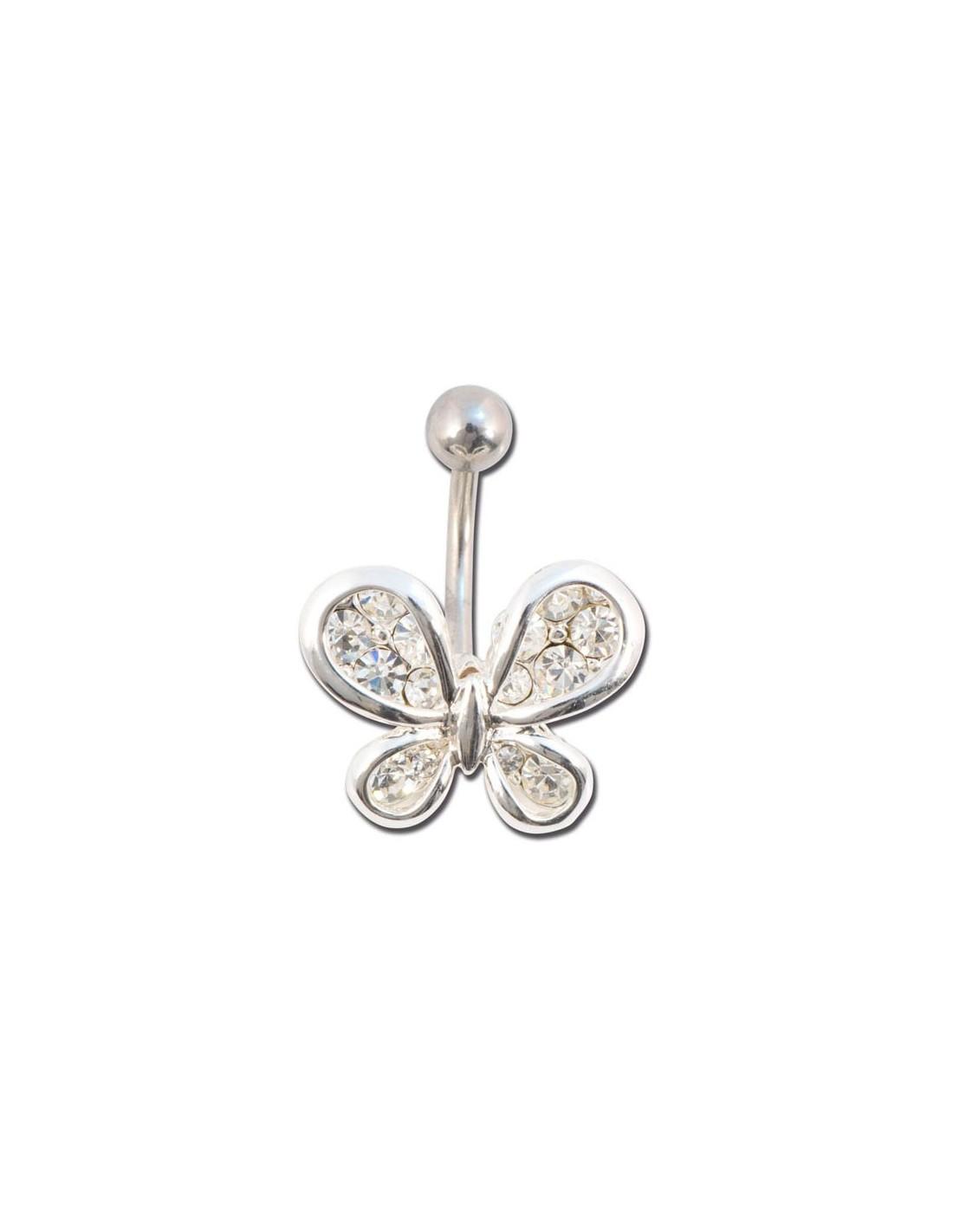 Bijoux De Nombril piercing nombril papillon bijoux et pierre de couleur