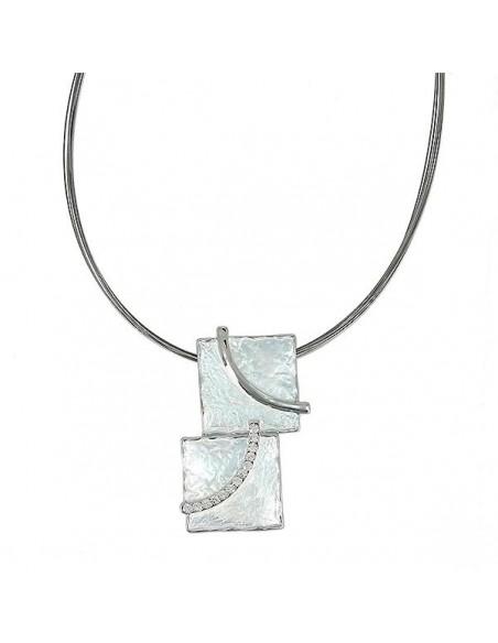 collier fantaisie métal carré