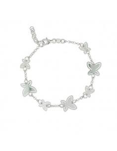 Bracelet argent papillon design