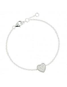 Bracelet argent Coeur brillant