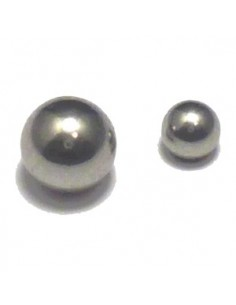 Boule piercing acier chirugical pour tige de 1.6 mm