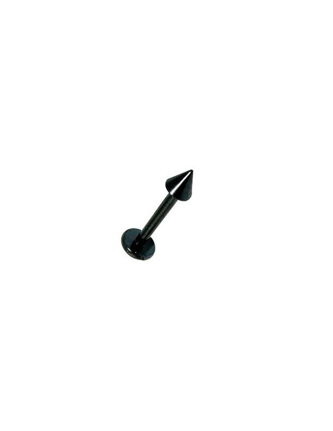 achat de bijou piercing levre labret acier noir a pointe anodise. Black Bedroom Furniture Sets. Home Design Ideas
