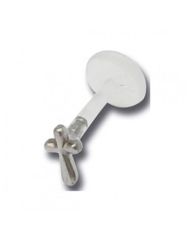 Piercing bioplast crucifix