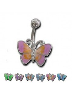 Piercing nombril papillon articulé