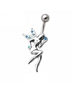Piercing nombril fée assise