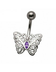 Piercing nombril vintage papillon
