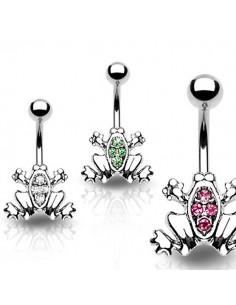 bijoux de nombril grenouille incrustée de brillants