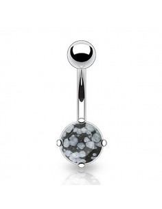 Piercing nombril pierre obsidian