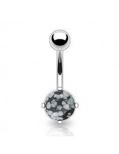 Piercing nombril pierre obsidian