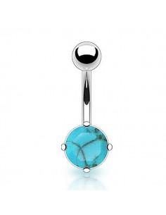 Bijoux turquoise - piercing nombril