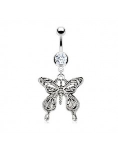 Piercing nombril papillon vintage
