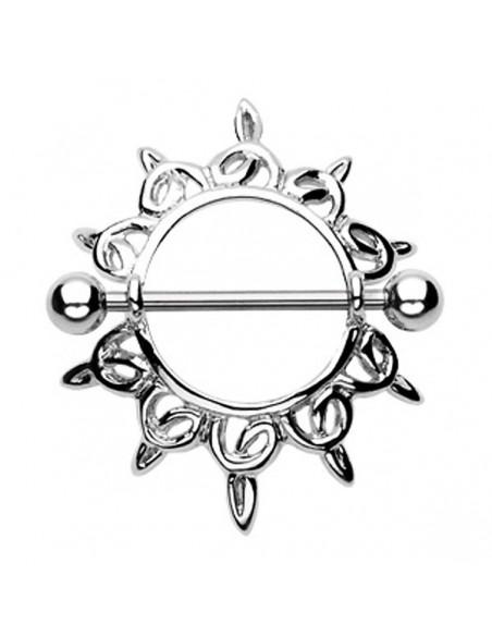 Piercing téton gothique en acier chirugical