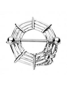 Piercing téton toile d'araignée
