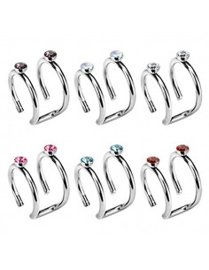 Faux piercing cartilage zircon