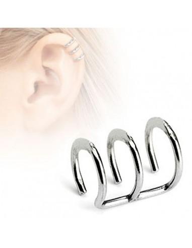 Faux piercing d 'oreille en trois maillons