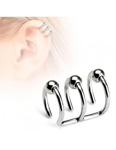 Faux piercing oreille ou faux bijoux illusion