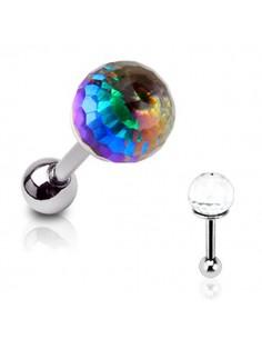 Piercing tragus boule de cristal