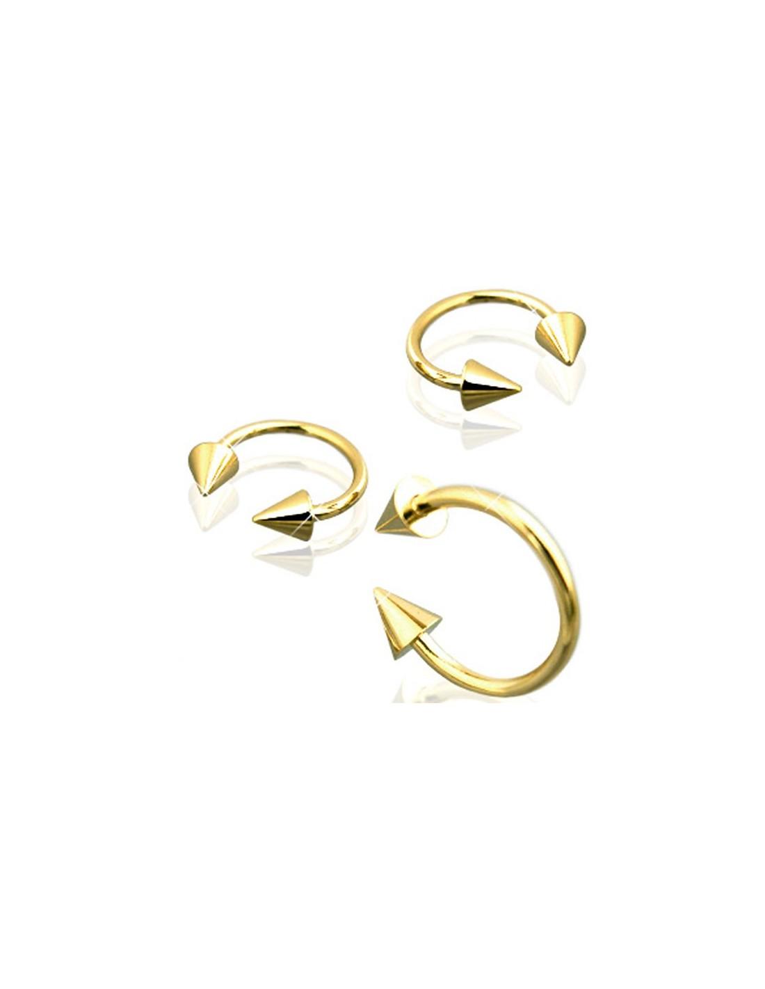 piercing circulaire or bijou arcade avec cones dore or fin. Black Bedroom Furniture Sets. Home Design Ideas