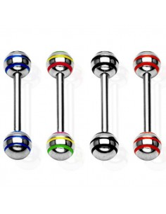 Piercing langue rasta jamaique strike stripe ball