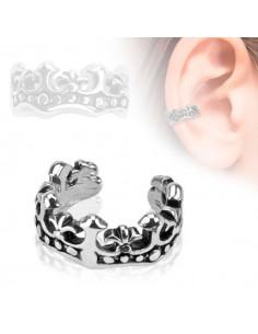 Faux piercing oreille cartilage couronne des rois