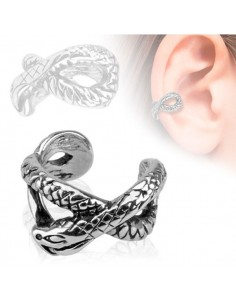 Faux piercing oreille maillon serpent
