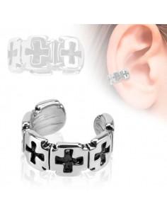 Faux bijou d'oreille croix gothique