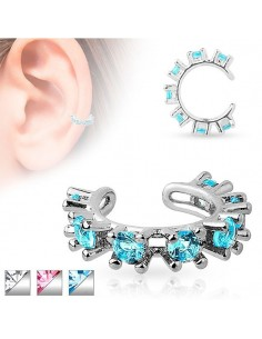 Faux bijou oreille zircons
