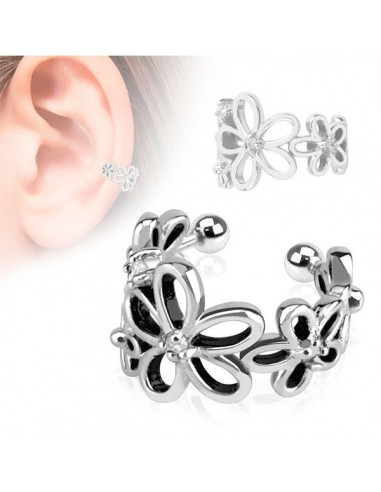 Faux bijou oreille fleurs de lys