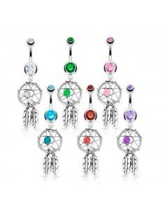 Bijoux piercing en forme d'attrape rêve
