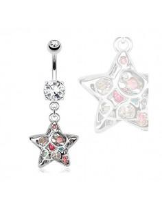 Piercing nombril étoile extraordinaire