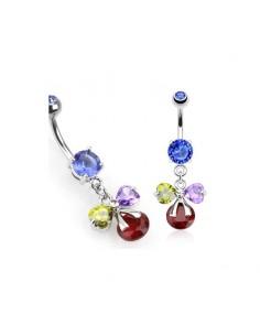 Bijoux piercing gem et couleur pour cadeau
