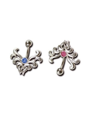 Piercing articule en argent de type gothique