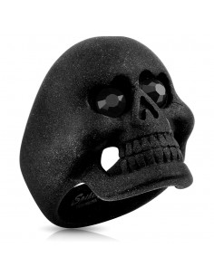 Bague tête de noir gothique