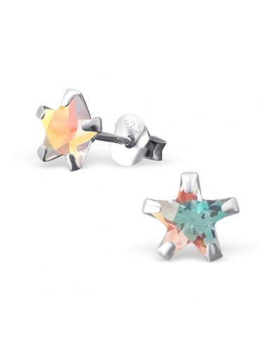 Boucles d'oreilles star en cristal