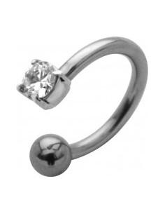 Piercing anneaux ouvert avec brillant transparent