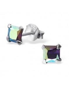 Puces oreilles style diamant griffé