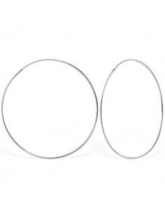 Créoles Argent 925/1000 Blanc 70 mm