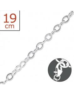 Bracelet argent à charms 19 cm