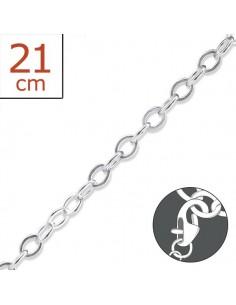 Bracelet argent à charms 21 cm