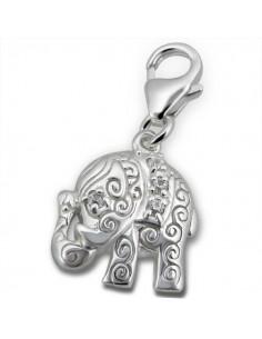 Charms elephant avec accroche de sécurité