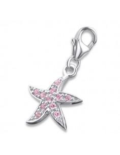 Charms argent représentant une étoile de mer