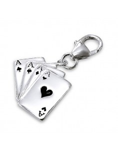 Charms jeux de carte as de pique