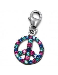 Charms peace and love colorés