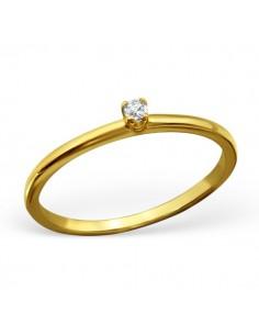 Bague anneau argent aspect doré