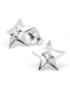 Boucles d'oreilles étoile scintillante