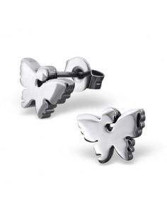 Boucles d'oreilles papillon d'acier